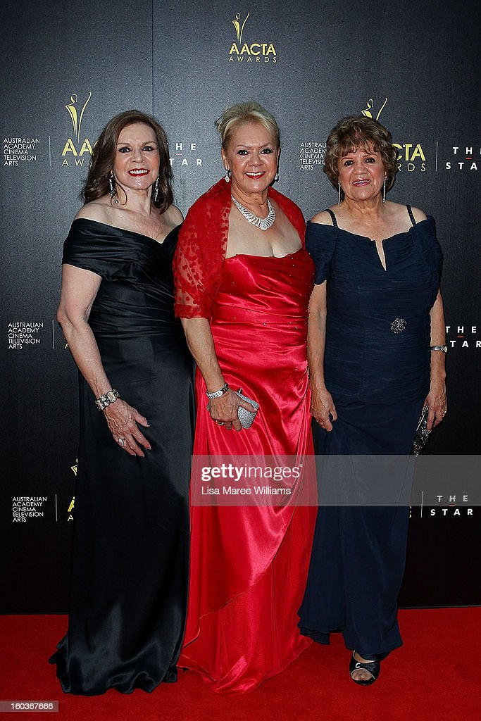 The original Sapphires, Lois Peeler, Laurel Robisnon and Beverly Briggs arrive for the 2nd Annual AACTA Awards at The Star on January 30, 2013 in Sydney, Australia.