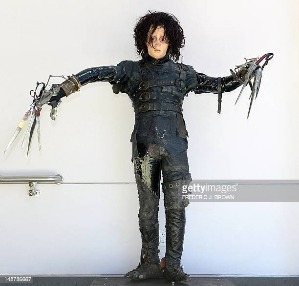 The original screenused costume worn by Johnny Depp in the film 'Edward Scissorhands' on display at Profiles In History in Calabasas northwest of...