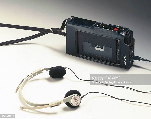 The original 'Walkman' model TCS 300 made by Sony of Japan The TCS 300 was the first personal stereo cassette recorder manufactured by Sony