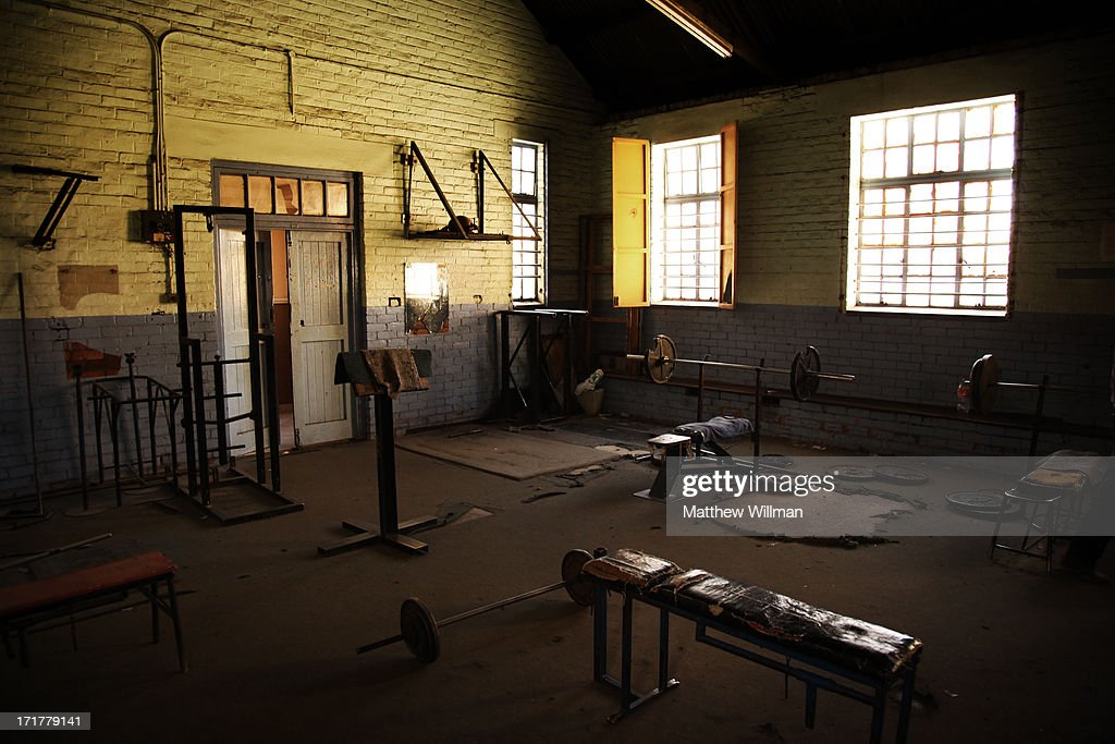 The Orlando YMCA Gym in Soweto, where Nelson Mandela worked out as a young man, South Africa, 11th June 2012. Mandela was a keen boxer in his youth, and although he never took part in organised tournaments, he used to train here. He joined the YMCA boxing club in the early 1950s, training there almost every weekday evening with his son, Thembekile.