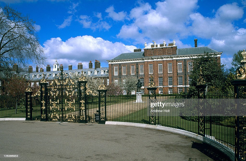 The ornate entrance to Kensington Palace, London. Kensington Palace has been a royal home for over 300 years and parts of the palace remain a private residence for members of the Royal Family today. The magnificent State Apartments and the Royal Ceremonial