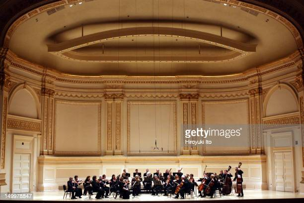 The Orpheus Chamber Orchestra performing the music of Schumann Prokofiev Penderecki and Brahms at Carnegie Hall on Saturday night January 29 2011