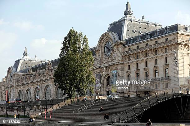 The Orsay museum is seen from a boat on the river Seine on October 12 2016 in Paris France The city of Paris remains the a top tourist destination...