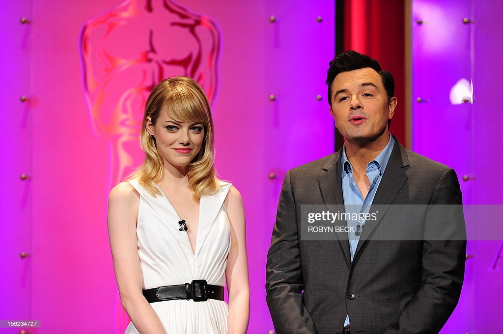 The Oscar nominees are announced by Seth MacFarlane and Emma Stone at the Samuel Goldwyn Theater on January 10, 2013 in Beverly Hills, California. Steven Spielberg is hoping for good news Thursday as Oscar nominees are unveiled, with his 'Lincoln' among frontrunners, albeit in a wide field as Hollywood's awards season enters the home straight. The 85th Academy Awards will be held on February 24.