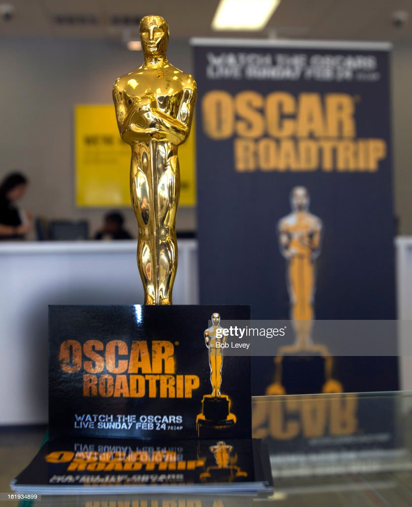 The Oscar statue on display at the Sprint Store in Town and Country Center during the First-Ever Oscar Roadtrip on February 17, 2013 in Houston, Texas.