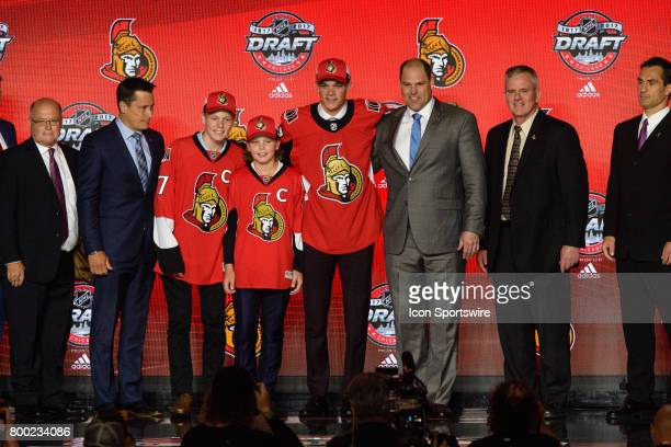 The Ottawa Senators select center Shane Bowers with the 28th pick in the first round of the 2017 NHL Draft on June 23 at the United Center in Chicago...