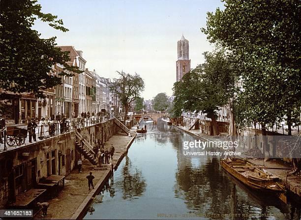 The Oude Gracht Hamburgerbrug Utrecht Holland between 1890 and 1900