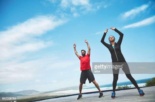 The outdoors enhances yoga