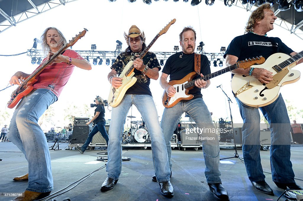 The Outlaws perform onstage during day three of 2015 Stagecoach California's Country Music Festival at The Empire Polo Club on April 26 2015 in Indio...