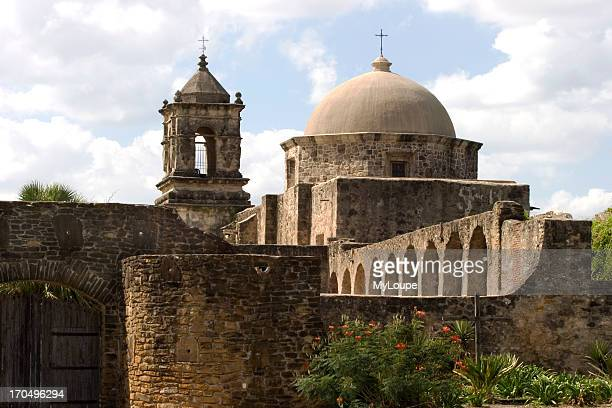 The Outside Gate And Roof Of Mission San Jose In San Antonio Texas Built By The Spanish And Catholic Church Part Of The National Park System