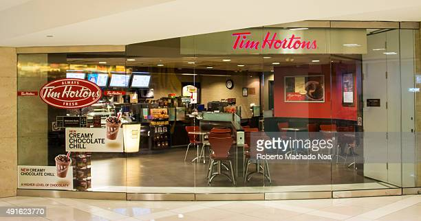 The outside of a Tim Hortons Coffee Shop Tim Hortons Inc is a Canadian multinational fast casual restaurant known for its coffee and doughnuts