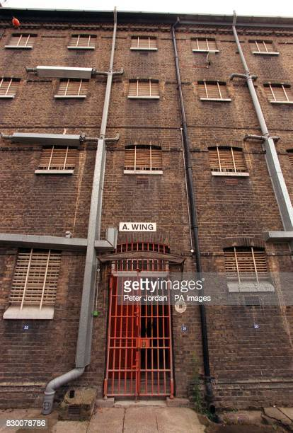 The outside of 'A' wing at Brixton Prison in London today Members of Britain's criminal justice system are this evening arriving at London's Brixton...
