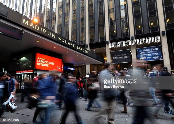 The outside of Madison Square Garden is seen prior to the regional semifinal of the 2014 NCAA Men's Basketball Tournament at Madison Square Garden on...