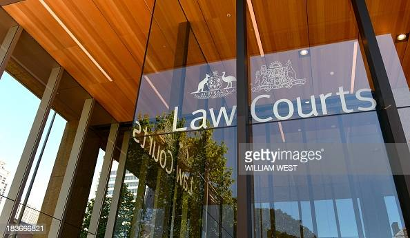 The outside of the Supreme Court of New South Wales building is seen in Sydney on October 9 as the court case continues with Australian billionaire...