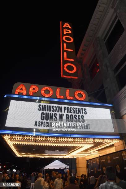 The overall general view of atmosphere at the SiriusXM's Private Show with Guns N' Roses at The Apollo Theater before band embarks on next leg of its...