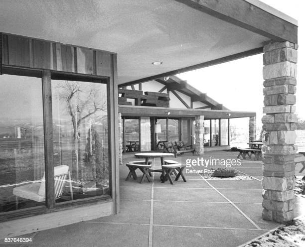 The oversize patio plays an important part in Rothgerber's entertaining plans He has had 350 guests here on occasion The pinkish aggregate cement...