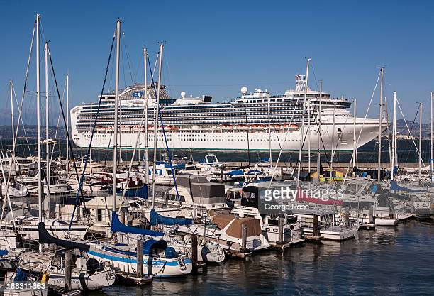 The oversized luxury cruise ship Sapphire Princess back away from Pier 35 after an overnight stop on April 15 in San Francisco California Some 136...