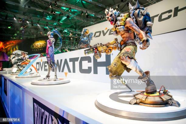 The Overwatch stand is seen at the Gamescom 2017 gaming trade fair on August 22 2017 in Cologne Germany Gamescom is the world's largest digital...