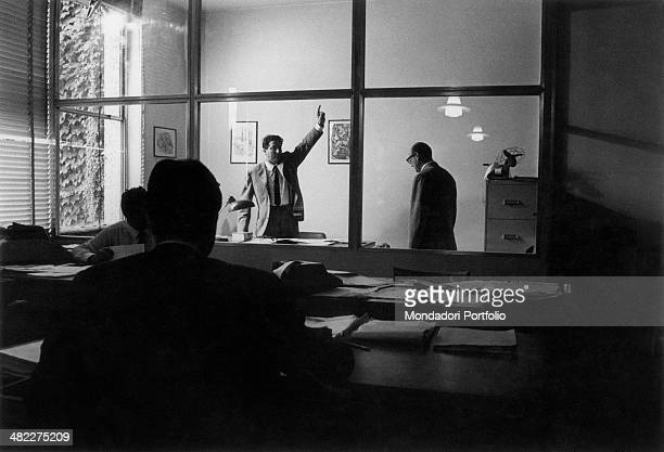 The owner of a company dismissing an employee Milan 1966