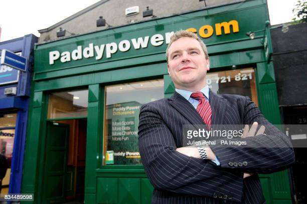The owner of Ireland's biggest bookmaker chain Paddy Power outside the Paddy Power outlet in Rathmines