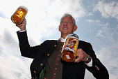 The owner of the new Oktoberfest tent Marstall Siegfried Able poses during a press event on August 19 2014 in Munich Germany The Able family are...