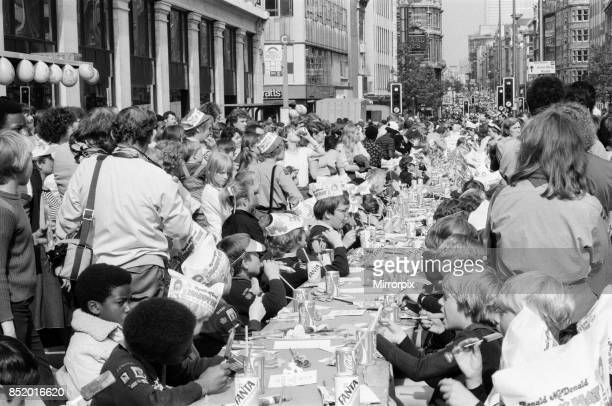 The Oxford Street Association staged a party for over 5000 children ahead of the Royal Wedding the party stretched from Tottenham Court Road to...