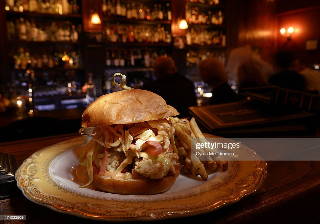 The oyster po boy with fried oysters remoulade parker house bun and fries at Williams and Graham at 3160 Tejon Street in Denver on Thursday February...