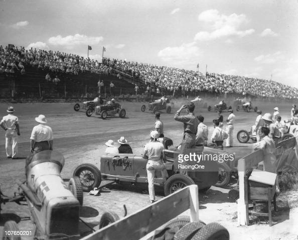 LANGHORNE PA The pace lap of a circa1930s race at Langhorne Speedway The tricky onemile true oval hosted a variety of races from 1926 through 1971