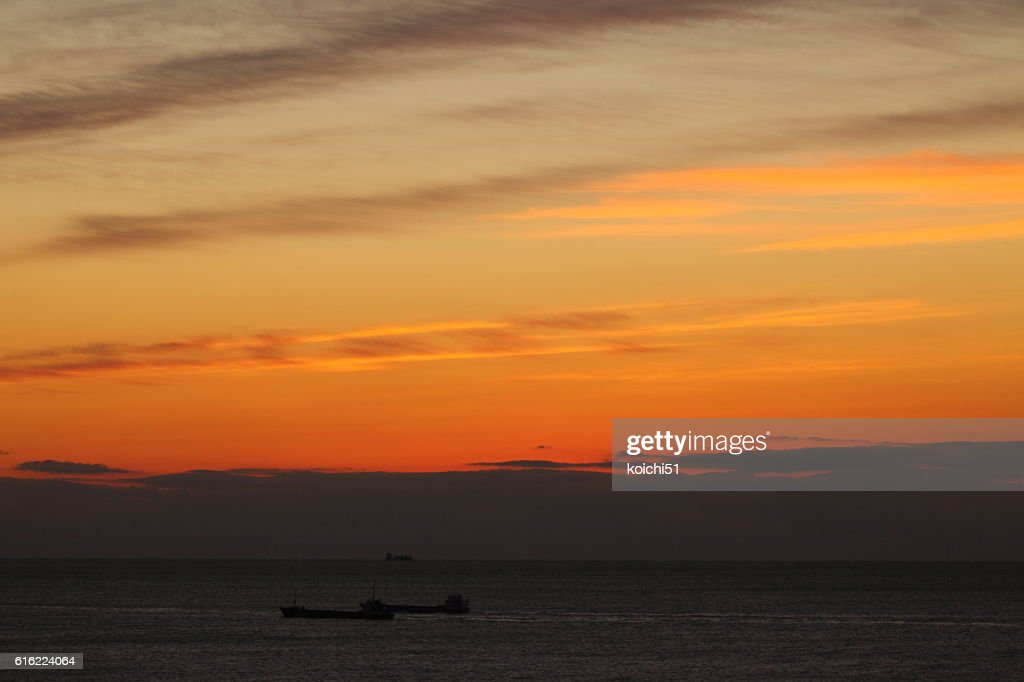 The Pacific before the daybreak : Foto stock