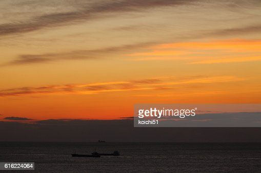 The Pacific before the daybreak : Stock Photo