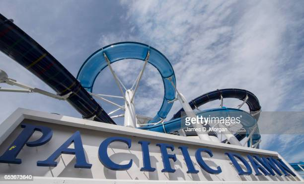 The Pacific Dawn cruise ship in her berth on March 16 2017 in Brisbane Australia The PO Cruises ship has returned to Australia after a multi million...