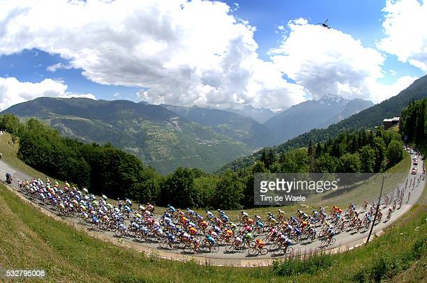The pack during stage 12 of the 2005 Tour de France between Briançon and DigneLesBains
