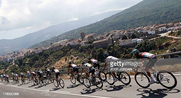 The pack ride during the sixth day of the 68th edition of 'La Vuelta' Tour of Spain a 175km stage between Guijuelo and Caceres on August 29 2013 AFP...