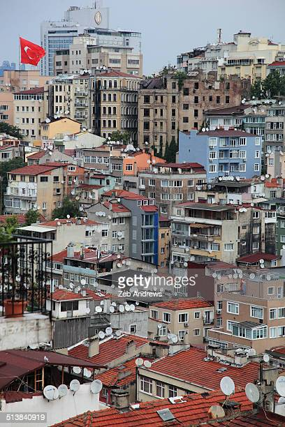 The packed buildings of Istanbul, Turkey