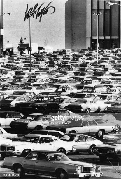 The packed parking lot at the South Shore Plaza Mall in Braintree Mass on Dec 14 1979
