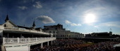 The paddock and spires are seen prior to the 138th running of the Kentucky Derby at Churchill Downs on May 5 2012 in Louisville Kentucky