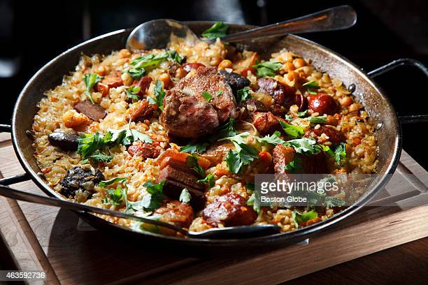 The Paella Salvaje at Barcelona Wine Bar in Boston's South End