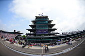 The Pagoda is seen during the NASCAR Sprint Cup Series Crown Royal Presents The John Wayne Walding 400 at the Brickyard Indianapolis Motor Speedway...