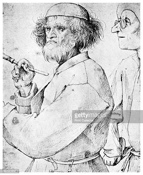 'The Painter and the Connoisseur' c1565 This is thought to be a selfportrait of the Flemish Renaissance painter Pieter Brueghel the Elder A print...