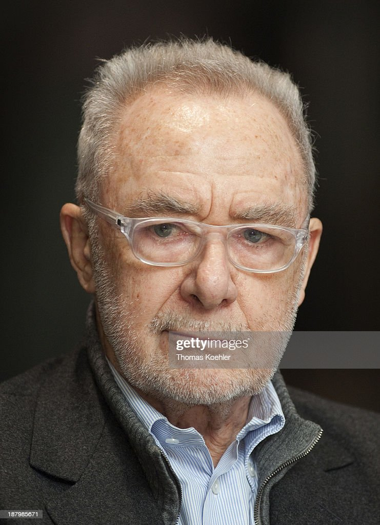 The Painter <a gi-track='captionPersonalityLinkClicked' href=/galleries/search?phrase=Gerhard+Richter&family=editorial&specificpeople=661262 ng-click='$event.stopPropagation()'>Gerhard Richter</a> during a press conference about his new exhibition called Panorama at the New National Gallery, the exhibition will be opened on .