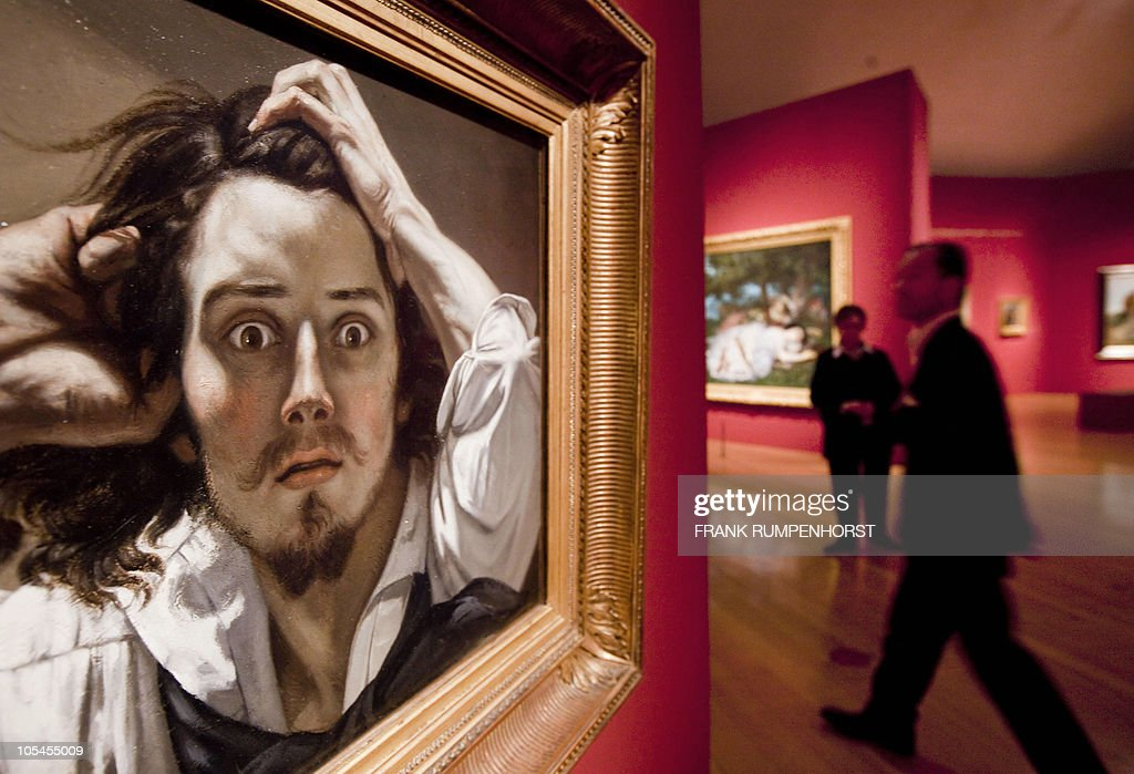 The painting 'The Desperate Man' by French painter Gustave Courbet can be seen at the Schirn Kunsthalle in Frankfurt/Main central Germany October 14...
