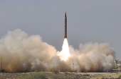 The Pakistani Military launches an intermediaterange nuclearcapable ballistic missile ShaheenII also known as HatfVI with a range of 1500 kilometers...