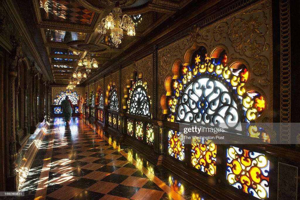 The Palace of Gold was built by devotees of Swami Prabhupada and includes stained glass, chandeliers, gold leaf paint and 52 varieties of marble and onyx from 17 countries.