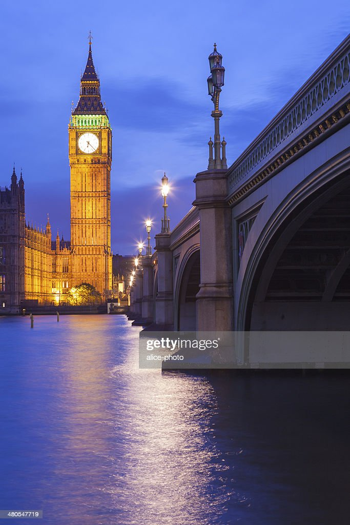 The Palace of Westminster Big Ben, London, England, UK : Stock Photo