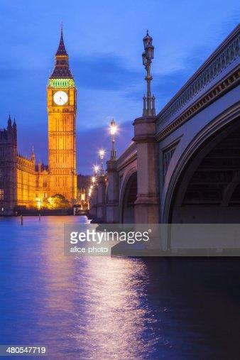El palacio de Westminster el Big Ben, Londres, Inglaterra, Reino Unido : Foto de stock