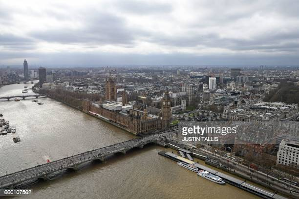 The Palace of Westminster comprising the House of Commons and the House of Lords which together make up the Houses of Parliament are pictured on the...