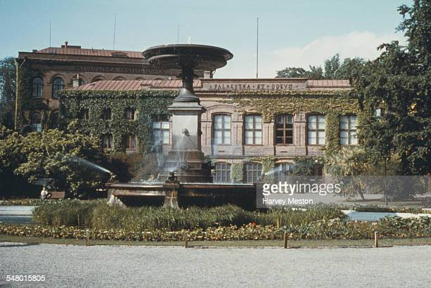 The Palaestra et Odeum a music room and gymnasium on University Square at Lund University in Lund Sweden circa 1965 The building burnt down in 1980