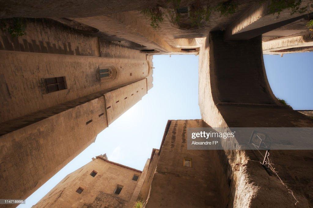 The Palais des Papes in Avignon, Low Angle Shot
