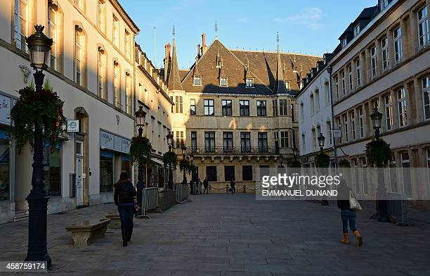 The Palais Grand Ducal the official residence of the Grand Duke of Luxembourg is seen in downtown Luxembourg City on November 10 2014 Leaked...