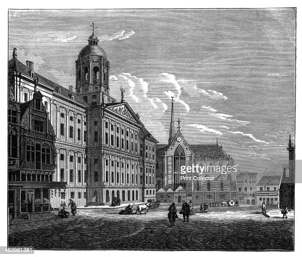 The Palais Royal Amsterdam c1890 An engraving from Robert Brown's The Countries of the World Cassell